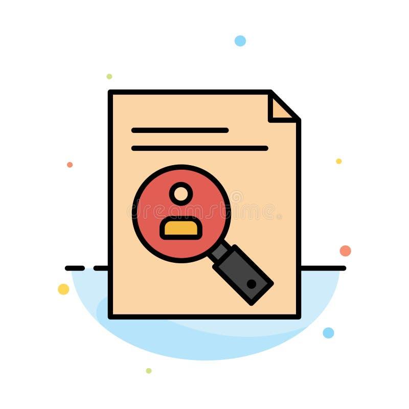 De toepassing, Klembord, Leerplan, Cv, hervat, het Pictogrammalplaatje van de Personeels Abstract Vlak Kleur vector illustratie