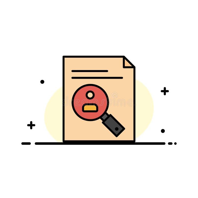 De toepassing, Klembord, Leerplan, Cv, hervat, Malplaatje Personeels van de Bedrijfs het Vlakke Lijn Gevulde Pictogram Vectorbann stock illustratie