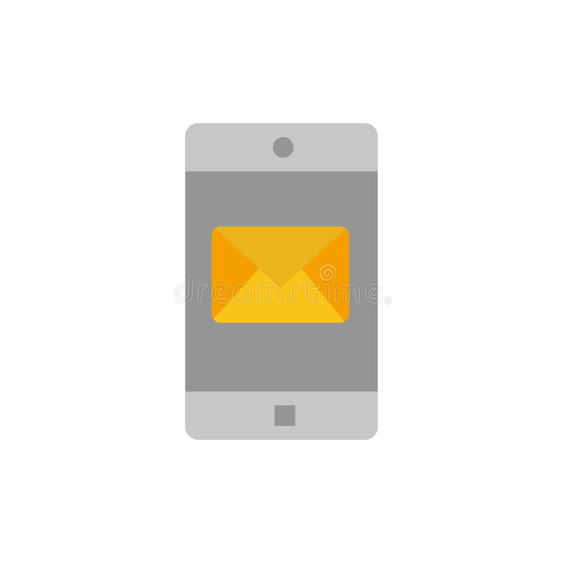 De toepassing, Mobiele, Mobiele Toepassing, post Vlak Kleurenpictogram Het vectormalplaatje van de pictogrambanner stock illustratie
