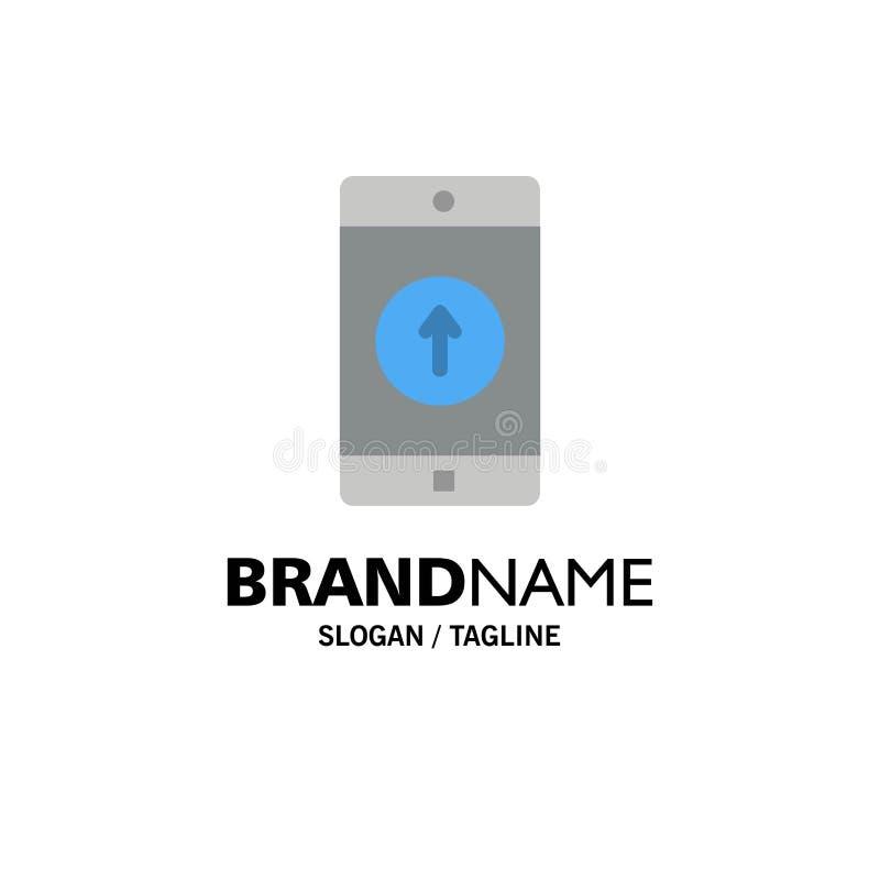 De toepassing, Mobiele, Mobiele Toepassing, Smartphone, verzond Zaken Logo Template vlakke kleur stock illustratie