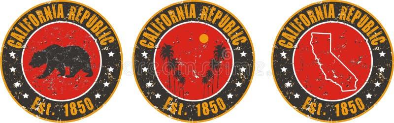 De toepassing van de de liefdet-shirt van Californië vector illustratie