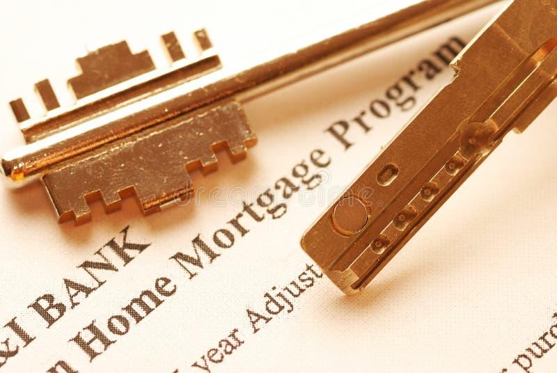 De toepassing van de hypotheek stock afbeeldingen