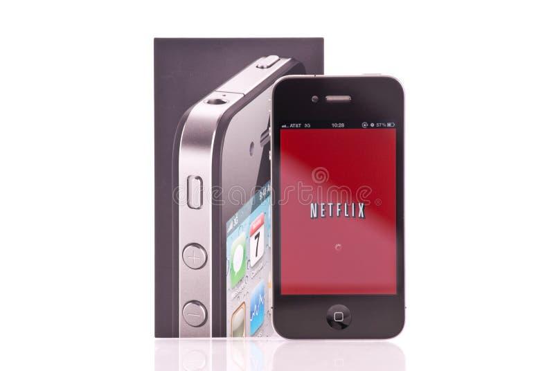 De Toepassing van Netflix van IPhone royalty-vrije stock foto's