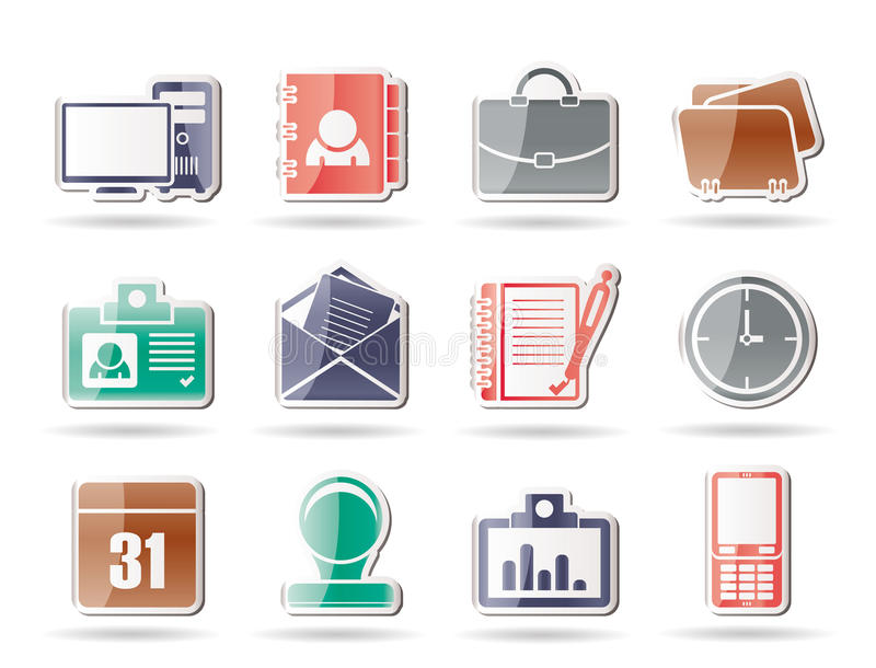 De Toepassingen van het Web, Bedrijfs en van het Bureau pictogrammen vector illustratie