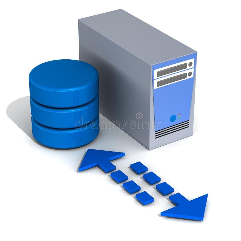 De toepassingsserver van het gegevensbestand vector illustratie