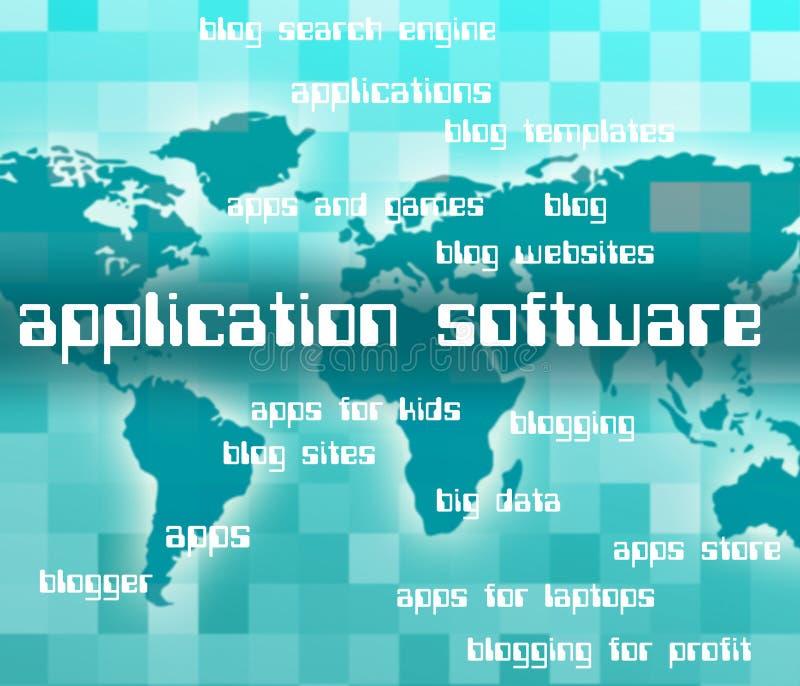 De toepassingssoftware toont Software Apps en Freeware stock illustratie
