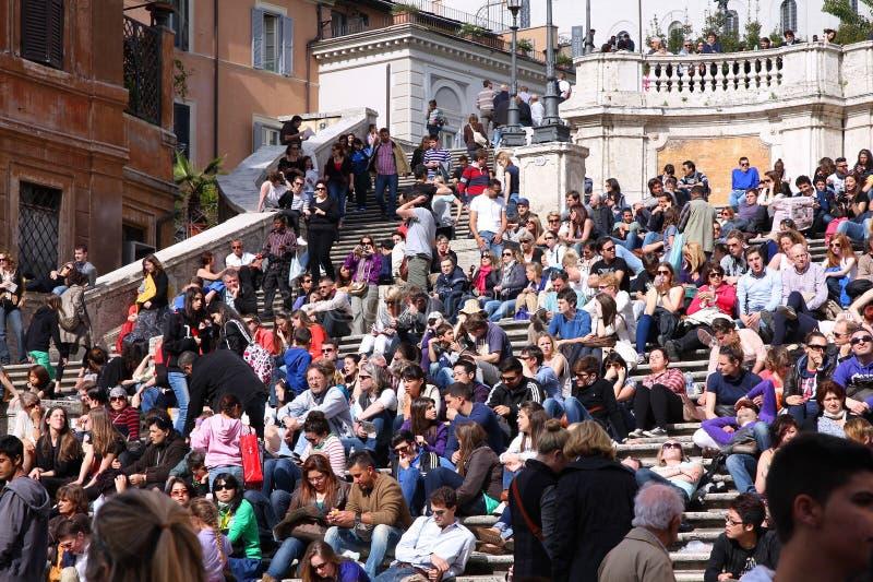 De toeristen van Rome stock foto's