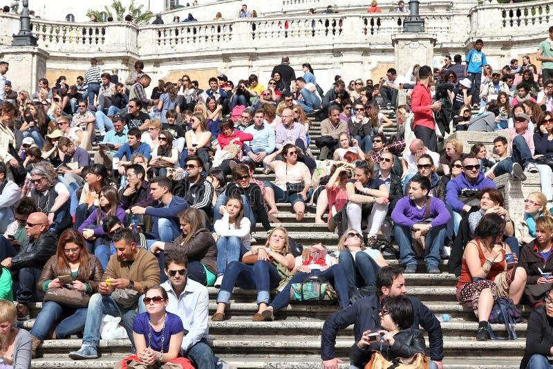 De toeristen van Rome royalty-vrije stock foto's
