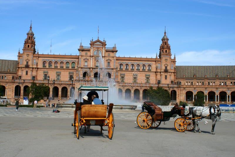 De toeristen van Sevilla stock foto's