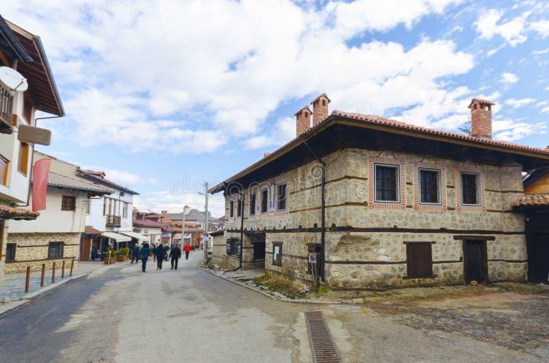De toeristencentrum van de wereldbekerski van Bansko Bulgarije stock afbeelding