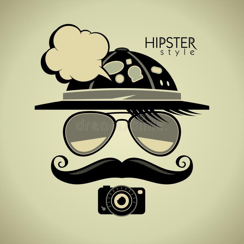 De toeristensymbool van de Hipsterstijl stock illustratie