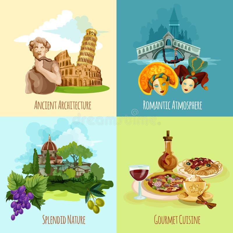 De Toeristische Reeks van Italië vector illustratie