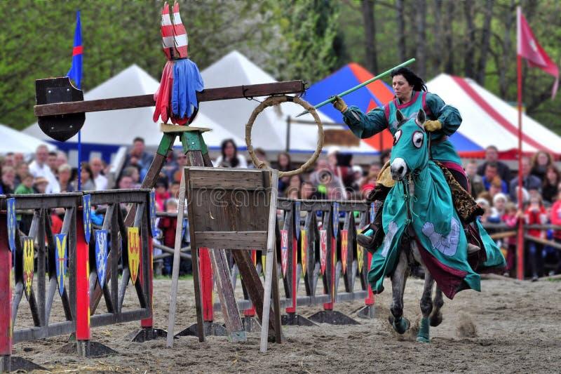 De toernooien van de ridder stock afbeelding
