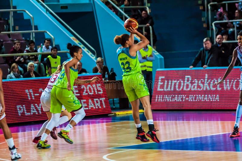 De toernooien van het meisjesbasketbal royalty-vrije stock fotografie