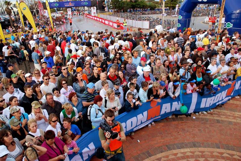 De toeschouwers van Ironman royalty-vrije stock foto's
