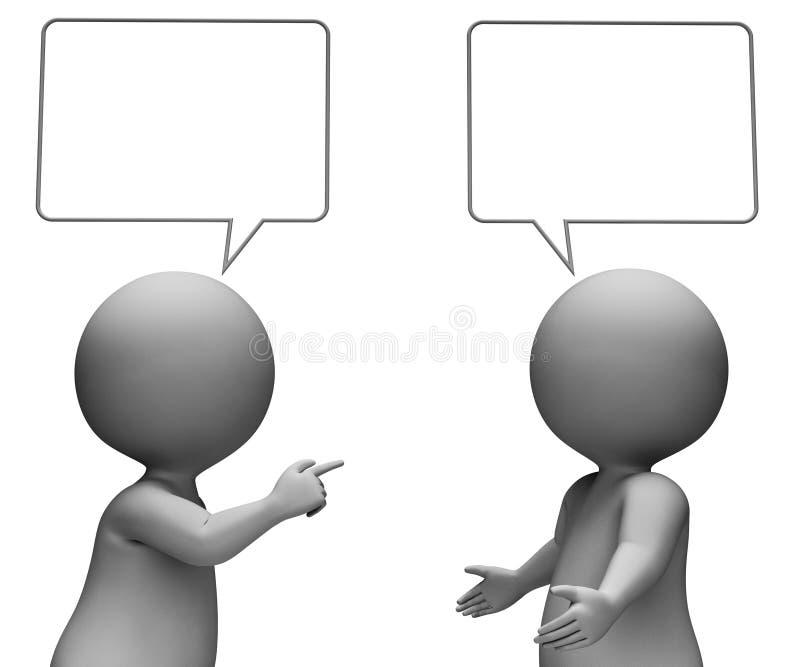 De toespraakbel betekent Exemplaar het Ruimte en Lege 3d Teruggeven stock illustratie