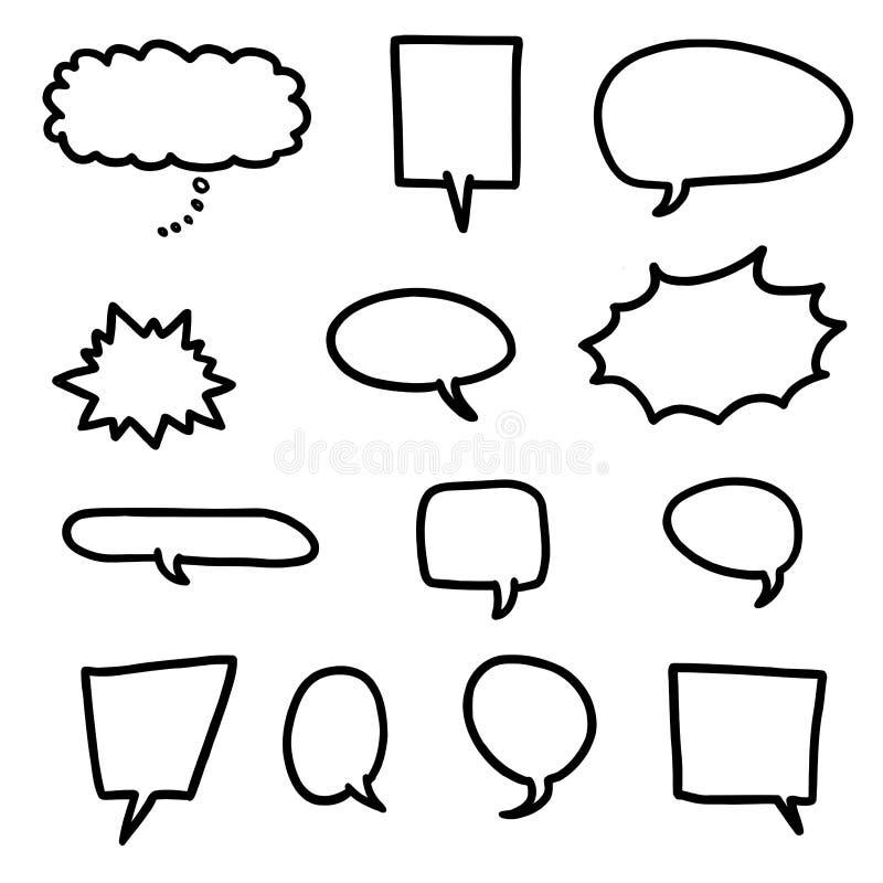De toespraakbellen van het beeldverhaal vector illustratie
