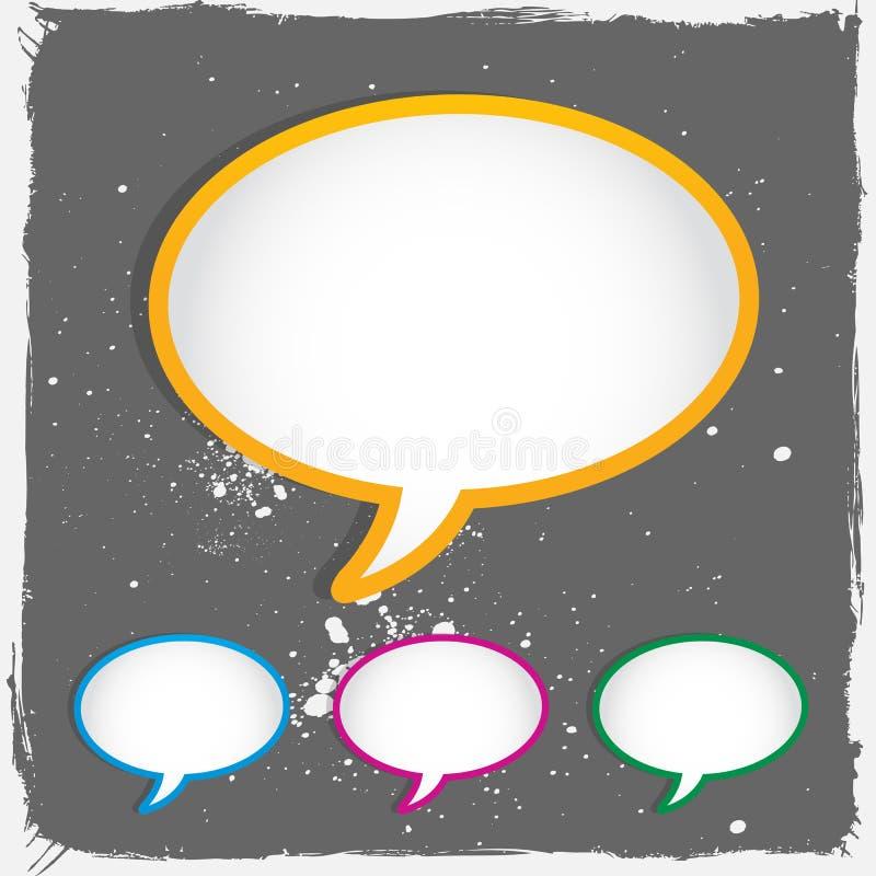 De toespraakbellen van het gesprek royalty-vrije illustratie