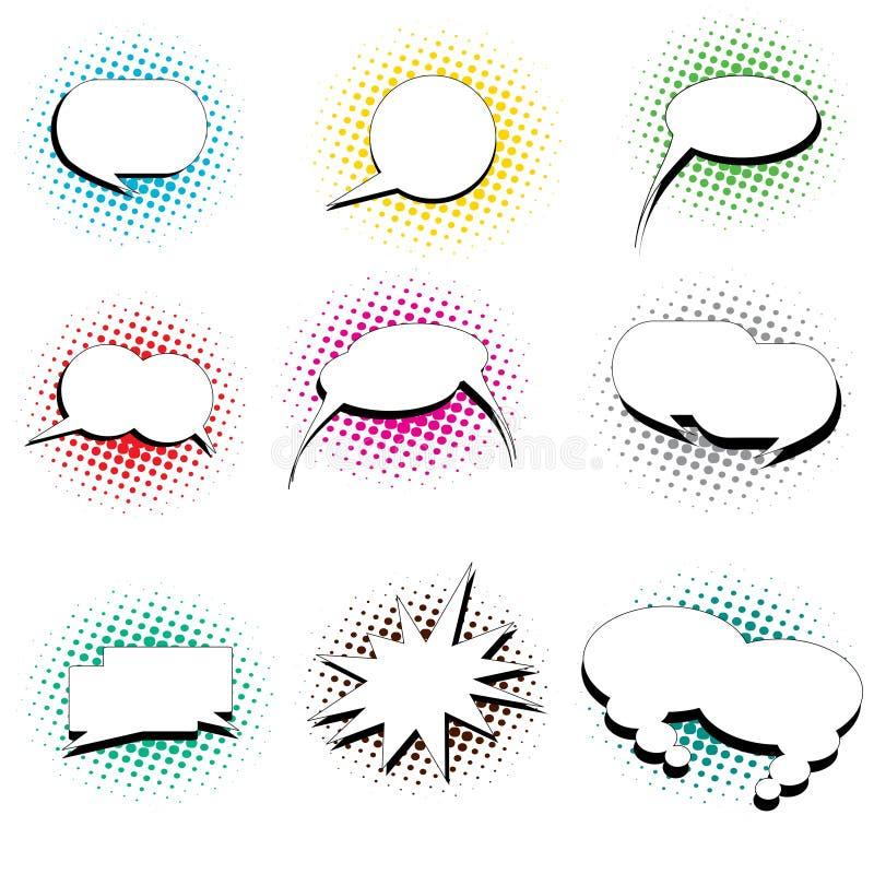 De toespraakbellen van het pop-art stock illustratie