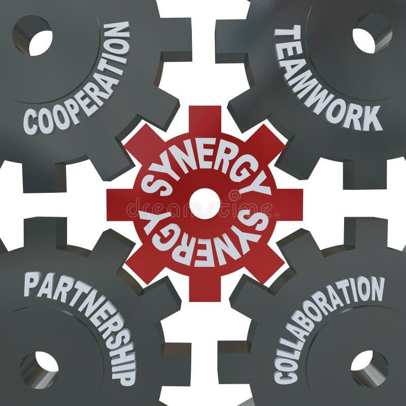 De Toestellen van het synergisme - Groepswerk in Actie stock illustratie