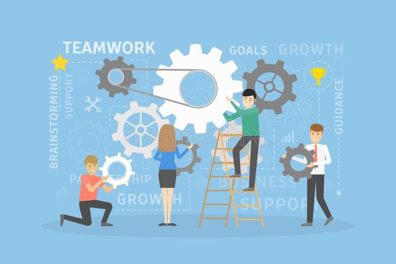 De toestellen van het teamwerk vector illustratie