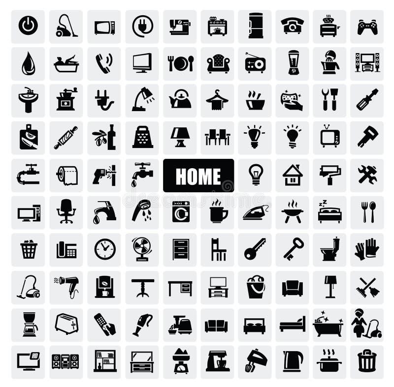 De toestellenpictogrammen van het huis vector illustratie