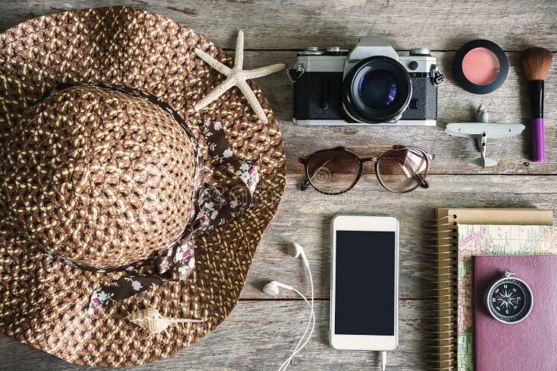 De toevallige uitrustingen van de vrouw, Uitrusting van vrouwelijke reiziger royalty-vrije stock foto's