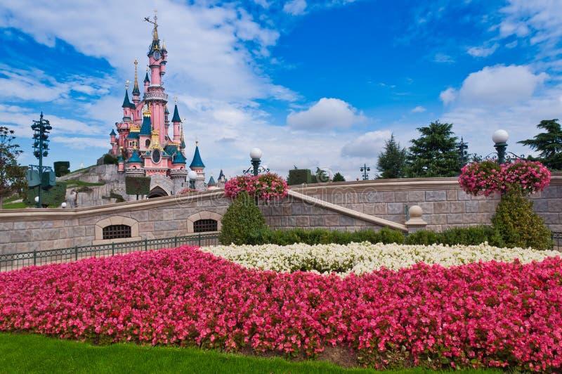 De Toevlucht Parijs van kasteel-Disneyland van de Schoonheid van de slaap royalty-vrije stock foto's