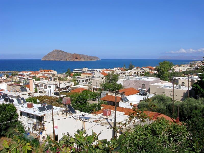 De toevlucht van de Plataniastoerist, Kreta, Griekenland royalty-vrije stock foto's