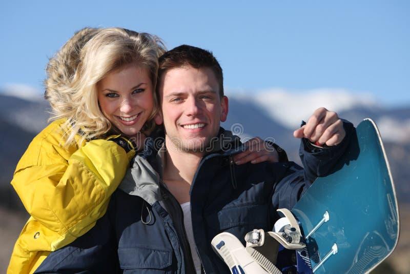 De toevlucht van de ski stock foto's
