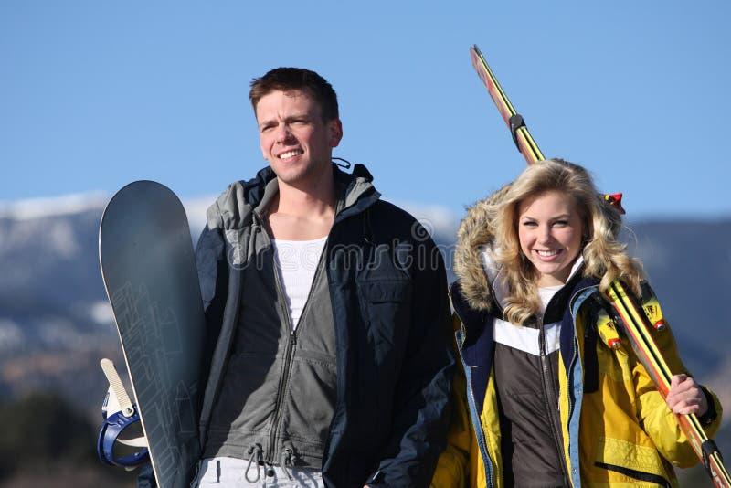 De toevlucht van de ski royalty-vrije stock foto