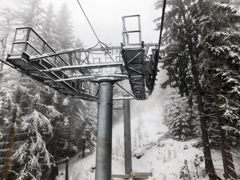 De toevlucht van de ski royalty-vrije stock afbeelding