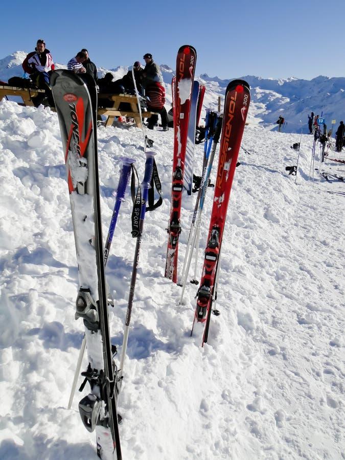 De toevlucht van de ski in Valloire, Frankrijk stock foto's
