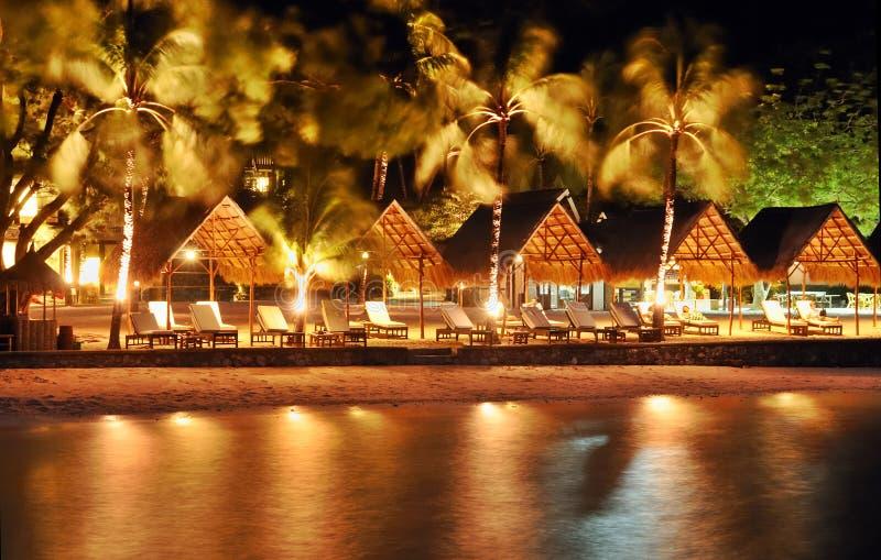 De Toevlucht van het Strand van de nacht royalty-vrije stock afbeeldingen