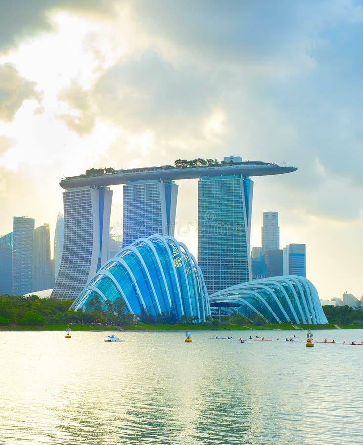 De toevlucht van het Zand van de Baai van de jachthaven Singapore royalty-vrije stock foto