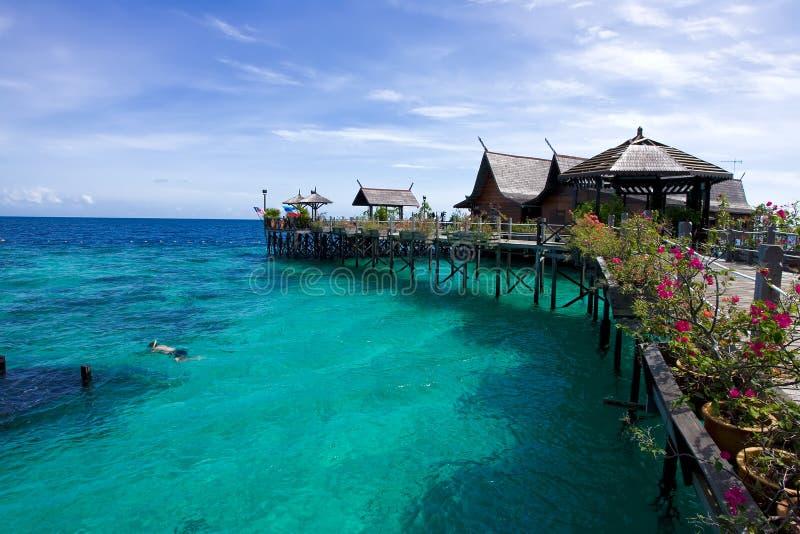 De Toevlucht van Kapalai in Sabah royalty-vrije stock fotografie