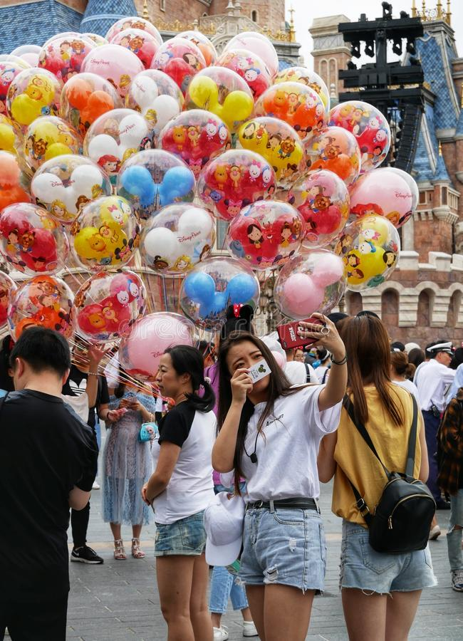 De Toevlucht van Shanghai Disney royalty-vrije stock foto