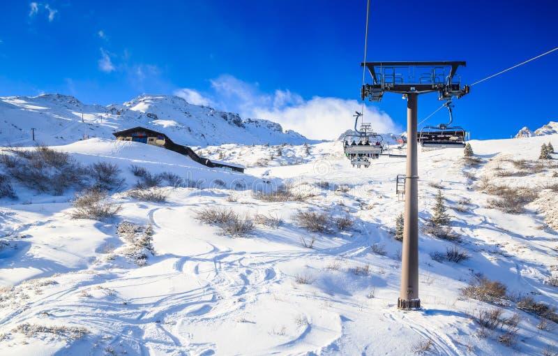 De toevlucht van de ski Skitoevlucht Slechte Gasteinl stock foto