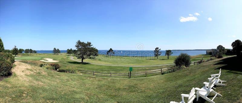 De toevluchtmening van Maine van de Rockportstaat oceanfron royalty-vrije stock foto
