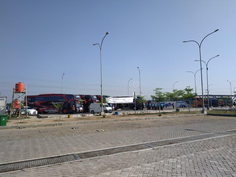 De Tol 4 Augustus 2019 van Indonesië - parkeerplaats - parkeerplaats stock fotografie