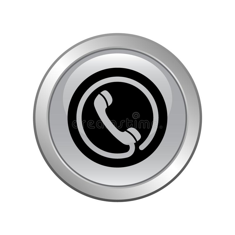 De tol van het telefoonpictogram - vrije knoop royalty-vrije illustratie
