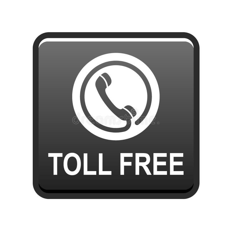 De tol van het telefoonpictogram - vrije knoop stock illustratie