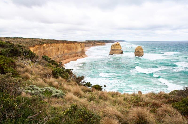 De tolv apostlarna i Australien royaltyfria foton