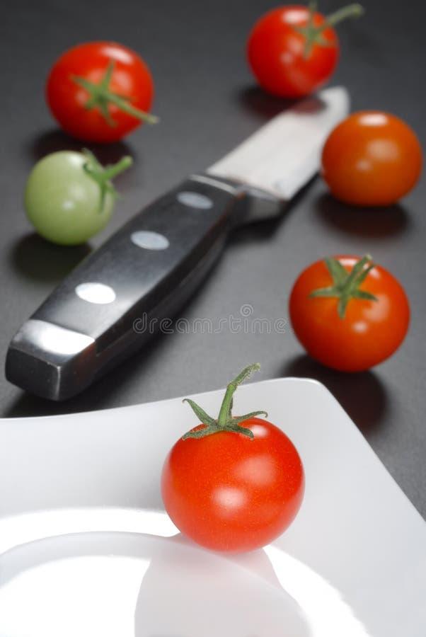 De tomaat van de kers royalty-vrije stock afbeeldingen