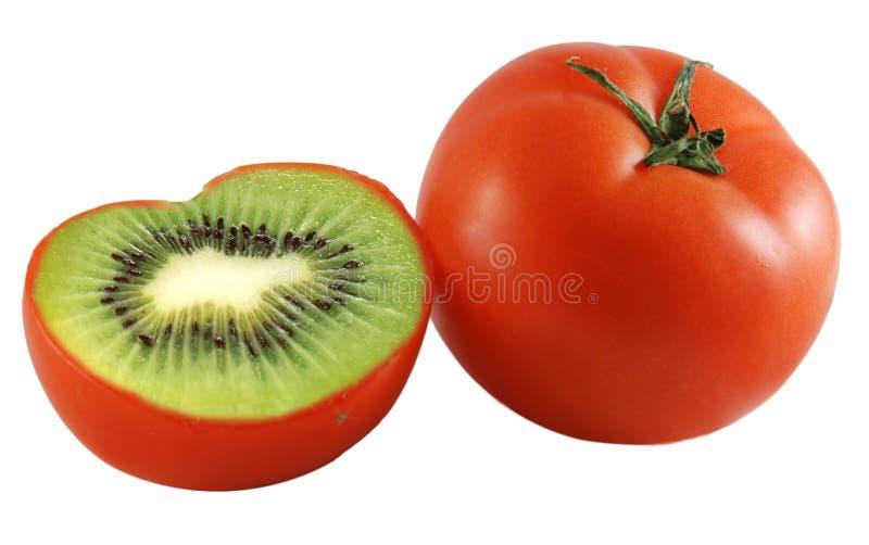 De tomaat van de kiwi royalty-vrije stock foto's