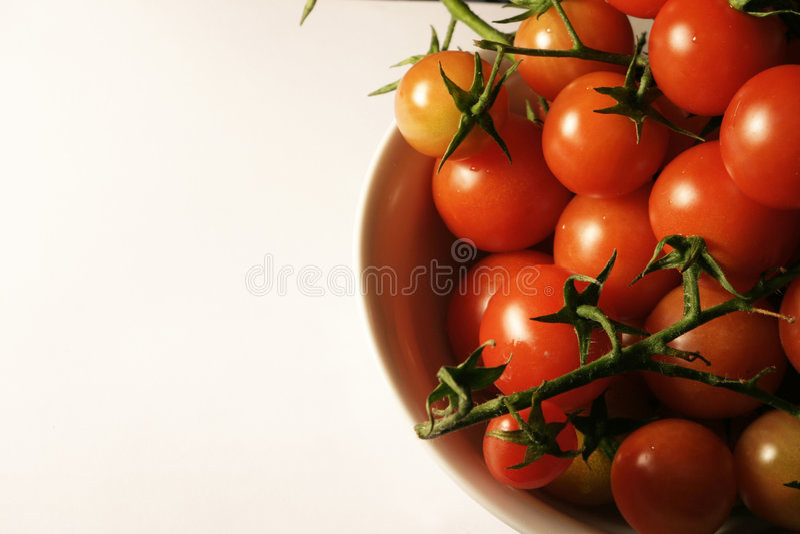De tomaten van de kers op de wijnstok royalty-vrije stock afbeelding