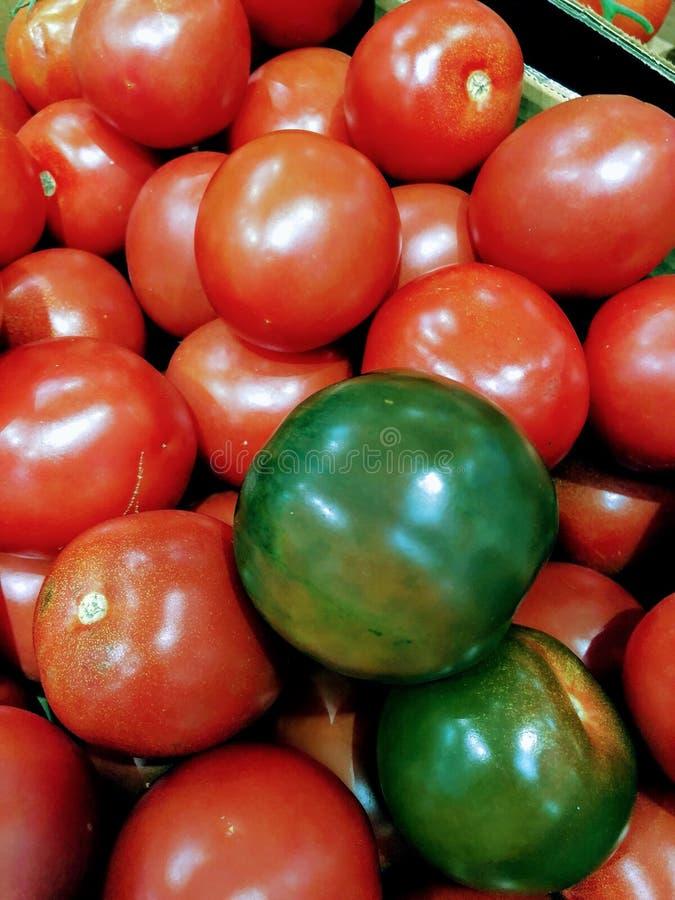 De tomaten zijn rood royalty-vrije stock afbeelding