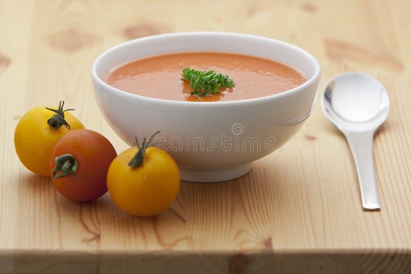 De tomatensoep van Gazpacho royalty-vrije stock fotografie