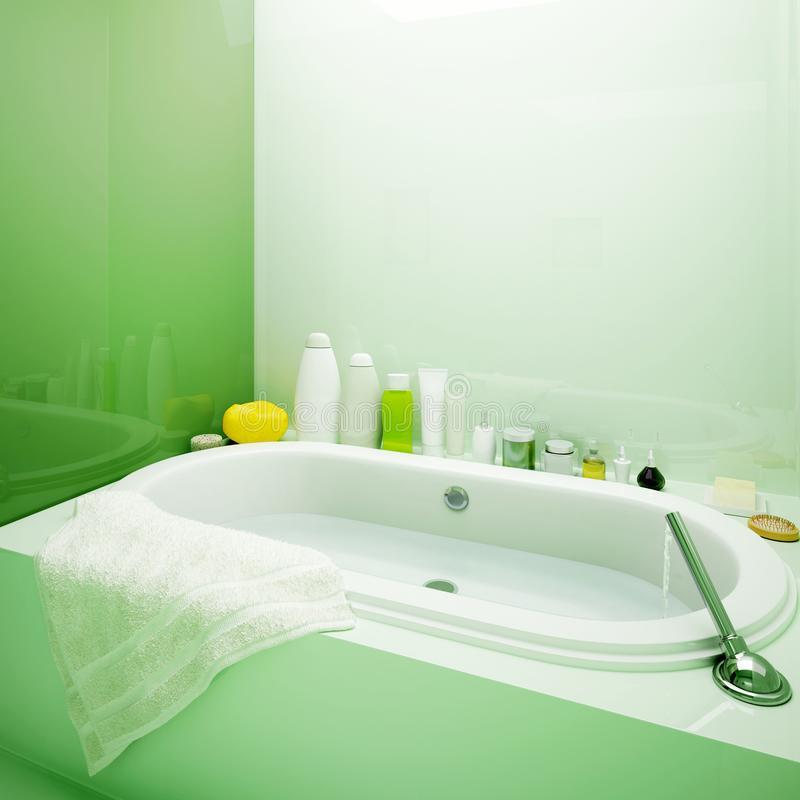 De ton wordt gevuld met water pampering royalty-vrije stock afbeelding