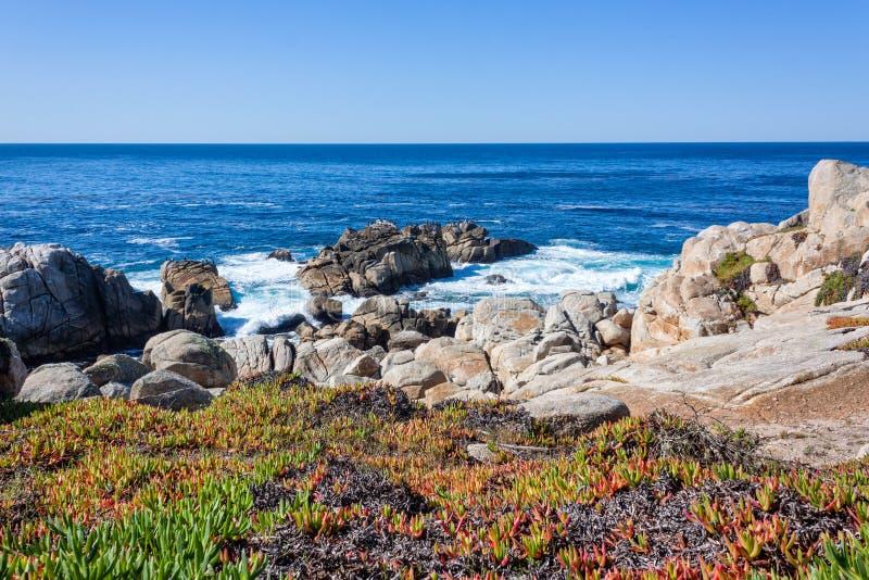 De toneel Kust van Californië stock afbeeldingen